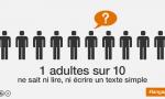 1 adulte sur 10 ne sait ni lire, ni écrire un texte simple